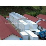 Casa prefabricada del contenedor con la decoración casera