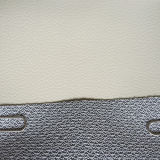 Couro do PVC da alta qualidade para o assento de carro (HS-PVC1601)