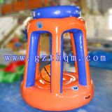 상업적인 PVC 0.55mm 팽창식 농구 링은 성인을%s 장난감을 서 있다