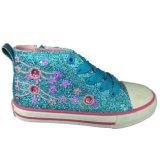 Les talons de Bling de coupure de cheville occasionnels vulcanise les chaussures en caoutchouc pour des enfants