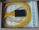 Divisor óptico del PLC de la caja del alto de Qualtiy FTTH 1X16 ABS óptico del divisor/de la fibra