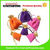 Saco Eco-Friendly do presente de veludo do Drawstring da promoção para a jóia
