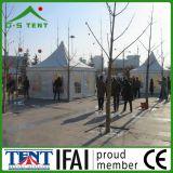 Tenda resistente del padiglione del vento della prova del PVC del vento bianco mobile del tessuto