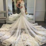Vestidos de casamento luxuosos Z2020 do ombro dos vestidos nupciais um da sereia