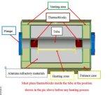 1700c que resbala el horno de tubo de alta temperatura de Vacuum&Atmosphere Btf-1700c-S