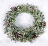 طبيعيّة ريش عيد ميلاد المسيح يثلج شجرة لأنّ زخرفة مع [لد] ضوء