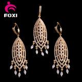 Reeks van de Juwelen van Doubai van de Stijl van de Groothandelaar van de Fabrikant van de Juwelen van CZ de Afrikaanse Goud Geplateerde