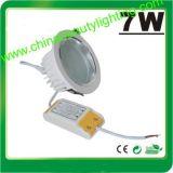 L'indicatore luminoso LED della PANNOCCHIA dell'indicatore luminoso di soffitto 7W giù si illumina