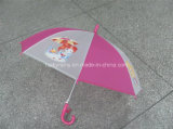 4 Panels Cartoon Printing를 가진 반투명 Poe Kids Umbrella