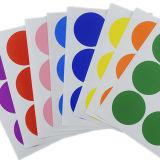 Etiqueta adhesiva de color, etiqueta redonda de papel DOT, adhesivo adhesivo decorativo