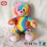 Brinquedo macio do urso quente encantador real do presente do melhor vendedor do arco-íris