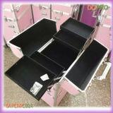 Colorido Listrado ABS Vanity Beauty Trolley Case (SATCMC014)