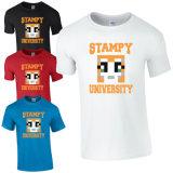 T-shirt drôle simple fait sur commande d'université de 2016 Jersey Stampy (A228)