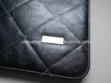 Calculator를 가진 사무실 Stationery Plaid Leather Embossed Padfolios