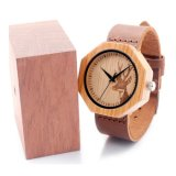Relógio de forma de madeira Bg451 do movimento novo de Japão da proteção ambiental