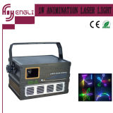 Profissional 1W Full Colar Animation Laser Light