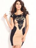 Оптовое дешевое корейское платье платья краткости платья офиса типа (50211)