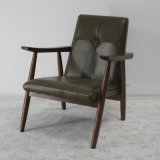 Cadeira clássica do sofá do Recliner da madeira contínua da mobília da sala de visitas