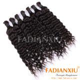 深い巻き毛の人間の毛髪の大きさの組みひもの毛