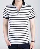 T-shirt de bonne qualité en gros chaud de polo de trois de couleurs de piste de mode hommes de coton