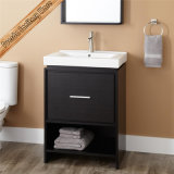 Fed-1243 24 Inch Thin e caffè espresso Solid Wood Bathroom Cabinets di Slim Cheap