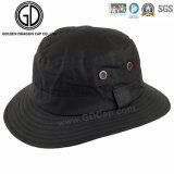 Chapéu personalizado em branco preto clássico ocasional da cubeta do logotipo do teste padrão