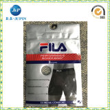 Vêtements de PVC et sachet en plastique de sous-vêtements, sac cosmétique d'emballage de PVC avec un crochet/bride de fixation et bouton (JP-plastic004)