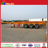 3 Eixo 40-60ton 40FT- 20FT Truck Skeleton Container Semi-Trailer