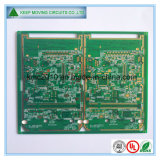 Placa de circuito impreso de la placa de la PCB del oro de la inmersión del Tv de múltiples capas alta