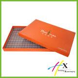 Caixa de papel de empacotamento do cartão do presente do cosmético com fita