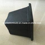 Flowerpot di plastica nero quadrato per la decorazione del giardino (HP-04)