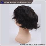 La vente en gros personnalisent le Toupee indien/Hairpiece de cheveux humains de mode pour les hommes