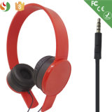 Écouteur stéréo de rouge de vente en gros d'écouteur de câble par type de mode de constructeur