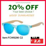 Zoll-UV400 polarisierte hölzerne Sonnenbrillen für Großverkauf (FCW8296)