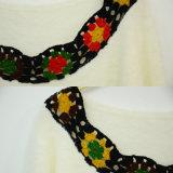 Vestiti lavorati a maglia inverno delle donne con il collare del Crochet
