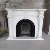 Indoor & Outdoor를 위한 자연적인 Stone White Marble Fireplace