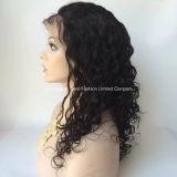 Парики шнурка бразильских Kinky человеческих волос полные для американца Afro