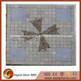 Telha de pedra bege natural do mosaico para a parede Ile