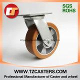 Schwenker-Fußrolle mit PU-Rad-Aluminiummitte 125*50