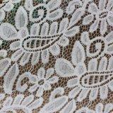 Tissus de lacet de broderie de coton pour des vêtements et des habillements
