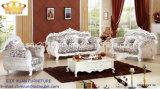 Sofà sezionale stabilito della mobilia del salone della parte superiore della parte posteriore del sofà di cuoio di legno domestico antico di Handcared