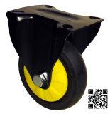 Laufkatze-Fußrolle der 3/4/5 Zoll-schwarze Farben-TPR (leise)