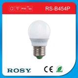 Lumière d'ampoule lumineuse en plastique de la porcelaine DEL d'E27 3W