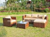 熱い販売の屋外のテラスの藤または枝編み細工品のソファーの庭の家具