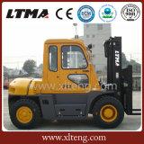 Type neuf de chariot élévateur de Ltma chariot élévateur diesel de 7 tonnes avec la cabine