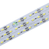 Alta tira rígida No-Impermeable del brillo SMD5637/5730 LED de los 72LEDs/M con el Ce, RoHS