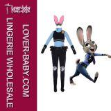 大人(L15360)のためのZootopia Judy Hoppsのバニーのマスコットの衣裳