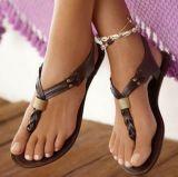 """Sandálias lisas das sapatas """"sexy"""" lisas das mulheres da forma"""