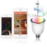 Intelligentes Bluetooth Speaker Fantastic Music E27 Base LED Lamp mit RGB Colors LED Lights