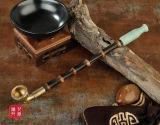 Weiches Griff-langes Ebenholz-hölzerne rauchende Tabak-Rohr-Pfeifen